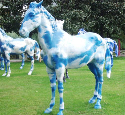 玻璃钢园林景观马雕塑