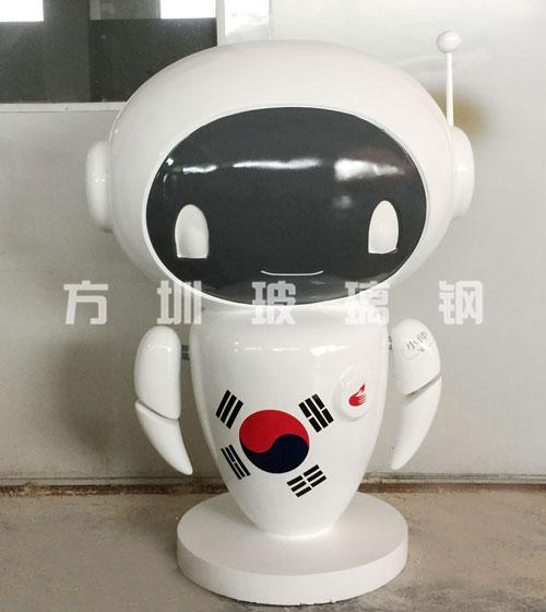 玻璃钢卡通机器人雕塑
