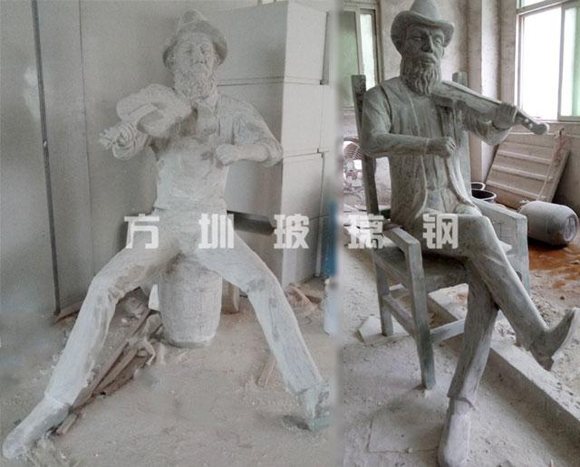 玻璃钢仿铜人物雕塑
