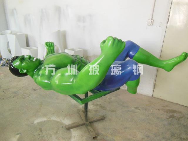 玻璃钢绿色巨人雕塑