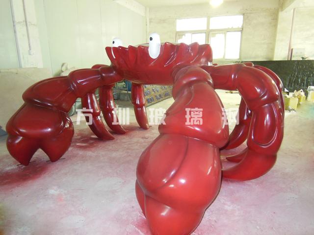 玻璃钢仿真螃蟹雕塑