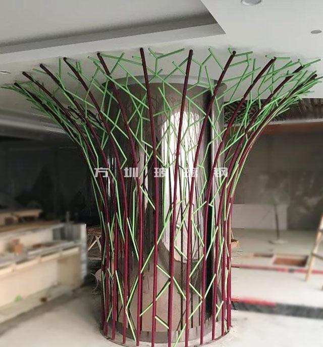 不锈钢造型树雕塑