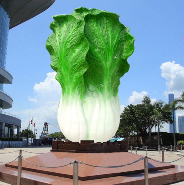玻璃钢仿真白菜雕塑