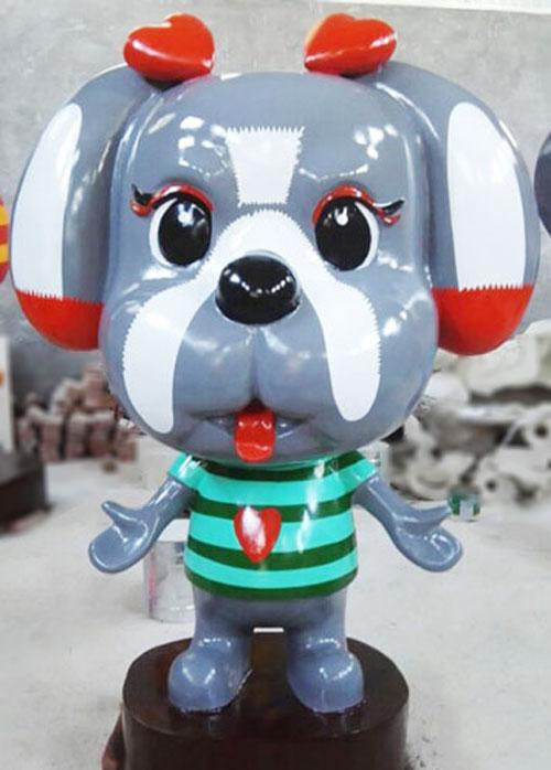 玻璃钢卡通狗雕塑