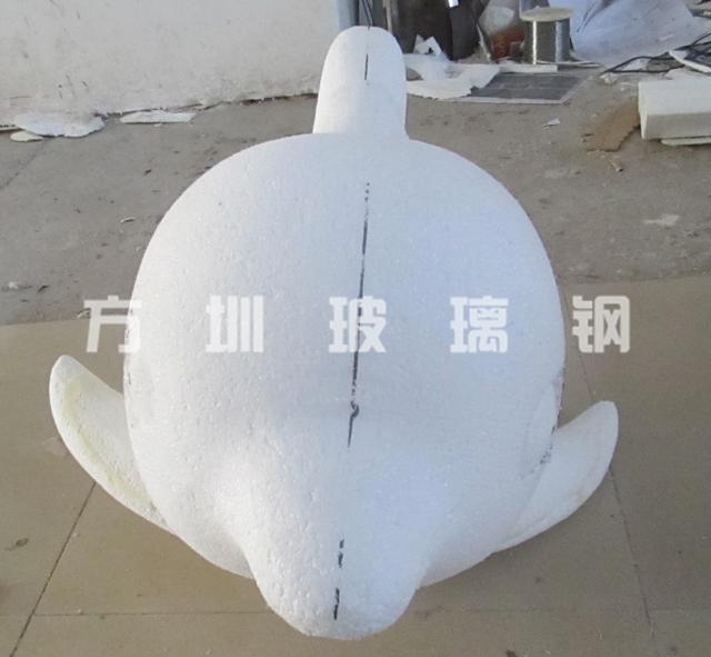 玻璃钢小海豚雕塑
