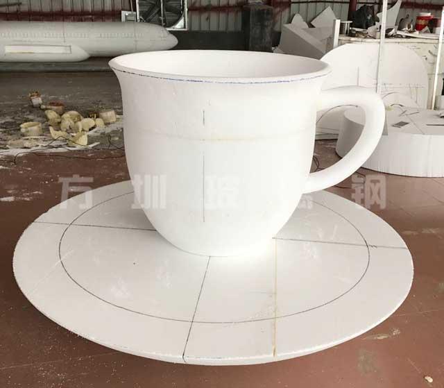 玻璃钢咖啡杯造型花盆