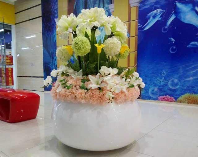 玻璃钢美陈花盆