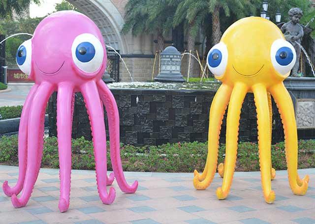 玻璃钢卡通章鱼雕塑