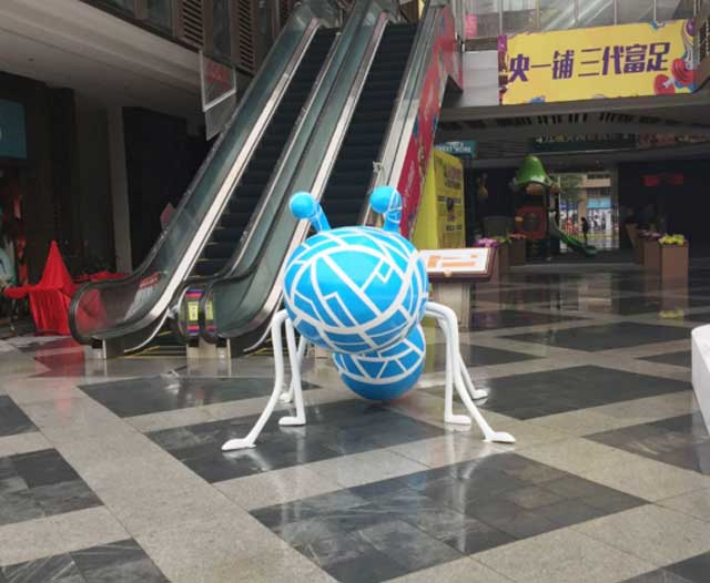 玻璃钢卡通蚂蚁雕塑