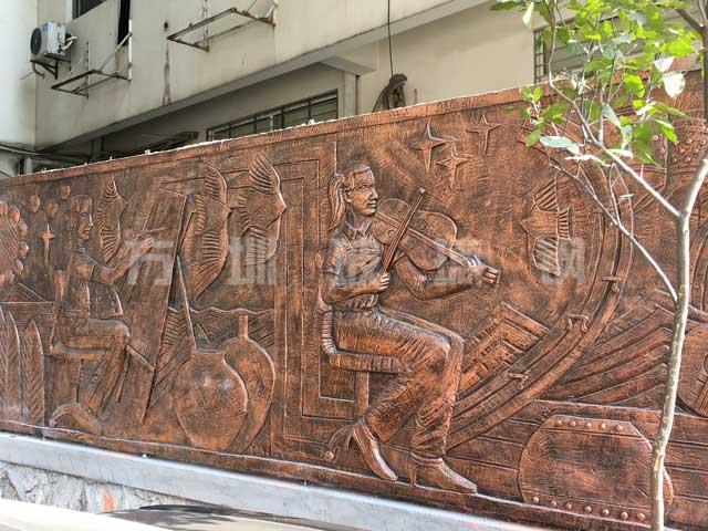 玻璃钢浮雕背景墙雕塑
