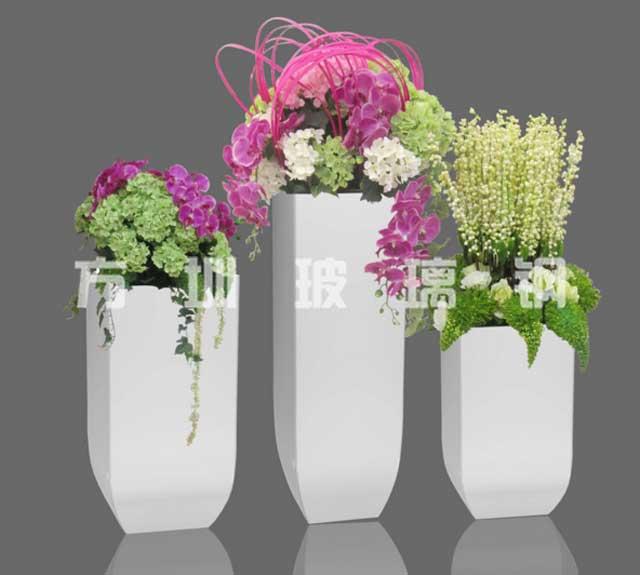 玻璃钢美陈组合花盆