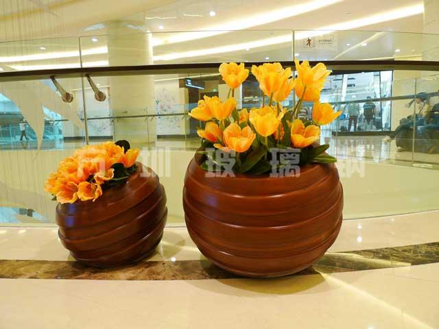 玻璃钢圆形组合花盆