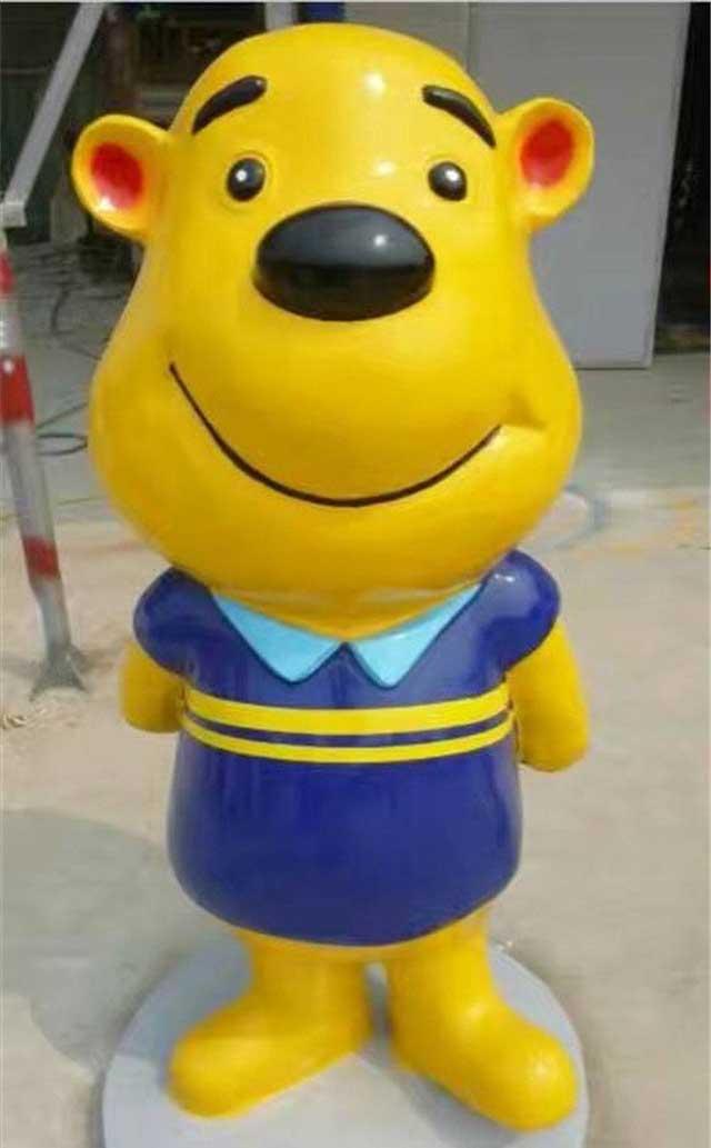 玻璃钢卡通熊雕塑