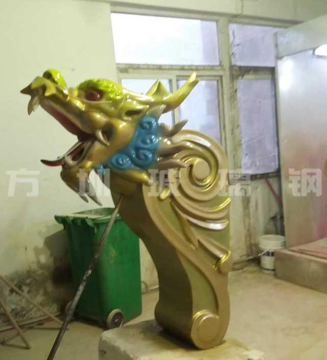 玻璃钢龙虎头雕塑