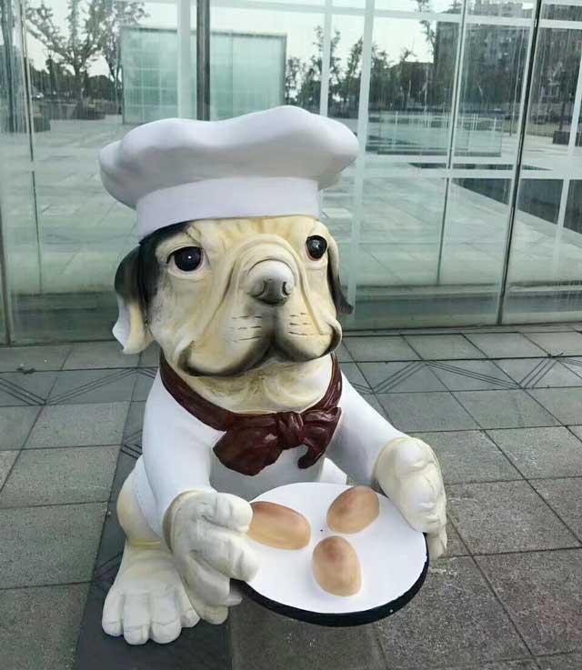 玻璃钢卡通小狗雕塑