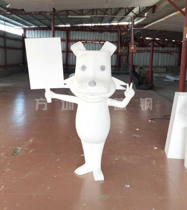 玻璃钢卡通豹子雕塑