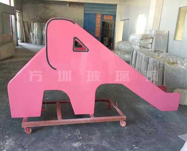 玻璃钢大象滑滑梯雕塑
