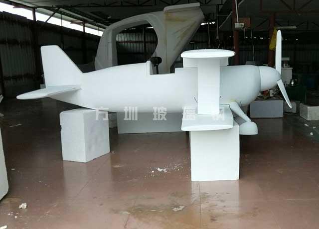 玻璃钢飞机模型雕塑