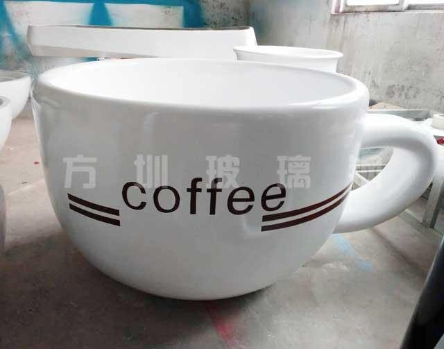 玻璃钢咖啡杯雕塑