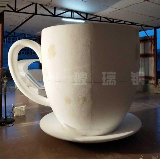 玻璃钢创意咖啡杯雕塑