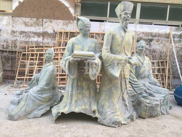 玻璃钢仿铜人物雕塑王阳明