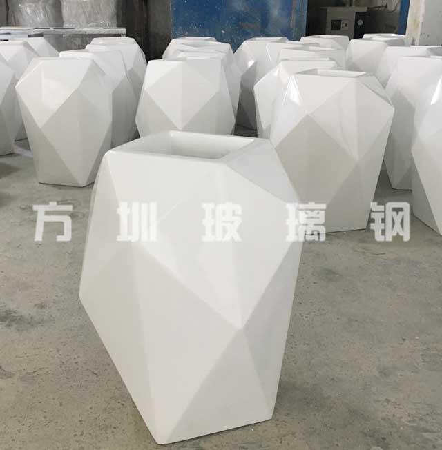 玻璃钢菱形花盆