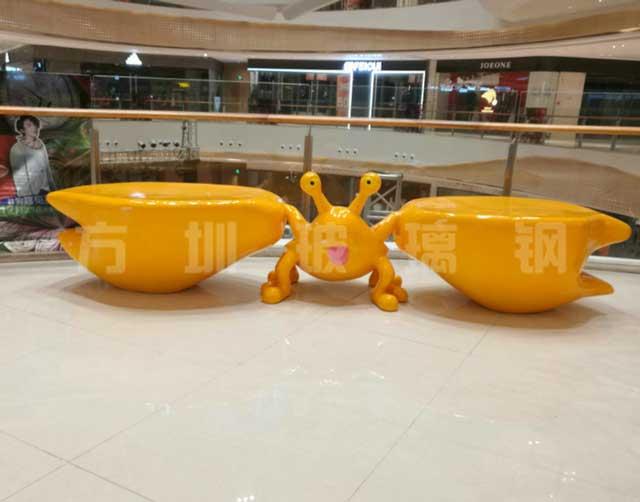 玻璃钢螃蟹休闲椅