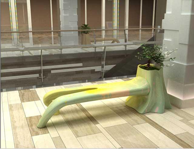 玻璃钢美陈休闲椅