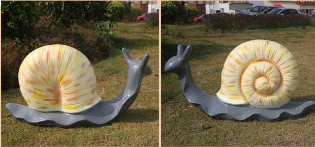 玻璃钢仿真蜗牛雕塑