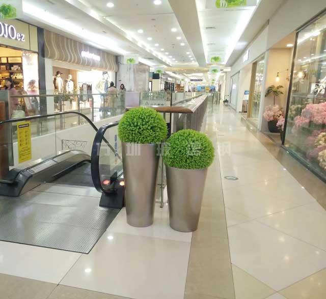 玻璃钢商场组合花盆
