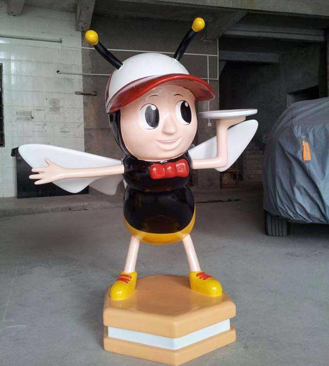 玻璃钢卡通蜜蜂雕塑