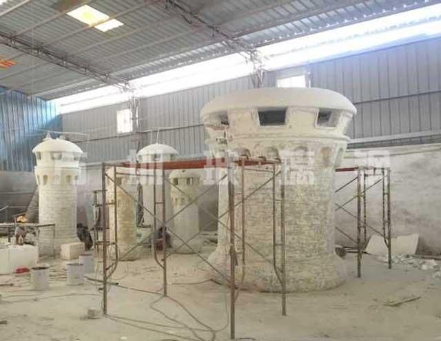 玻璃钢城堡造型雕塑