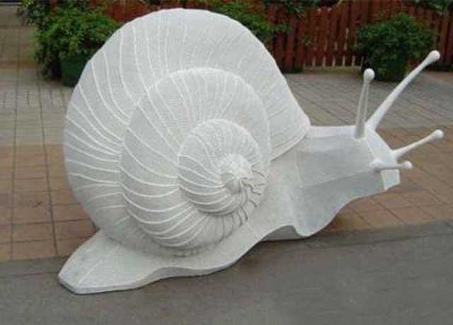 园林玻璃钢蜗牛雕塑