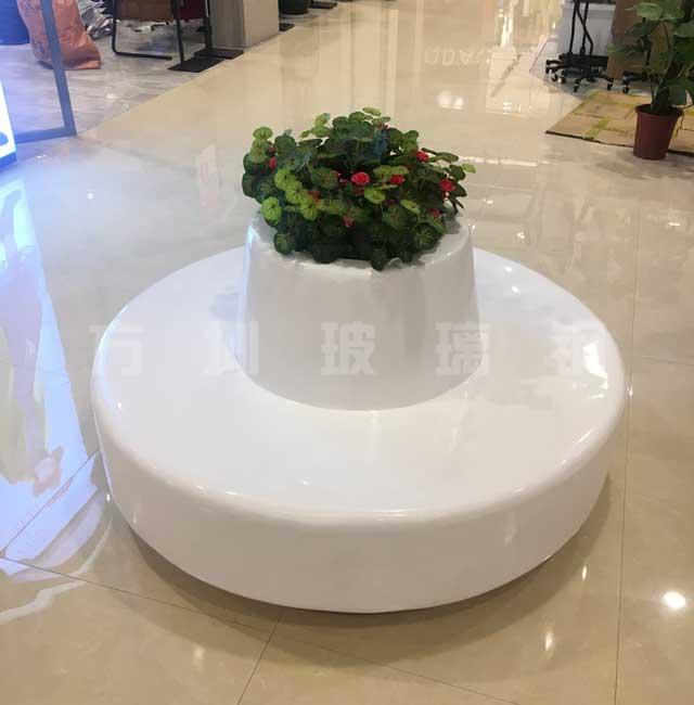 圆形玻璃钢花盆休闲椅