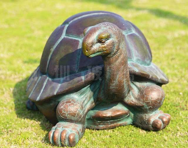 玻璃钢仿铜乌龟雕塑