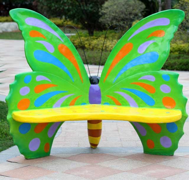 玻璃钢创意蝴蝶休闲椅