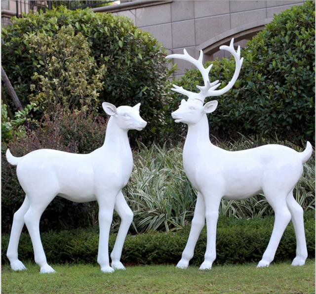 玻璃钢动物鹿雕塑