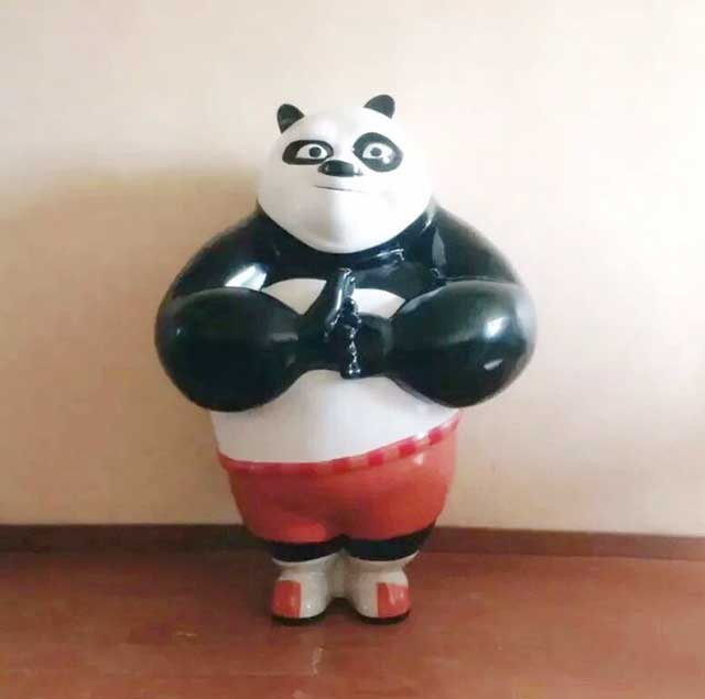 玻璃钢卡通雕塑熊猫