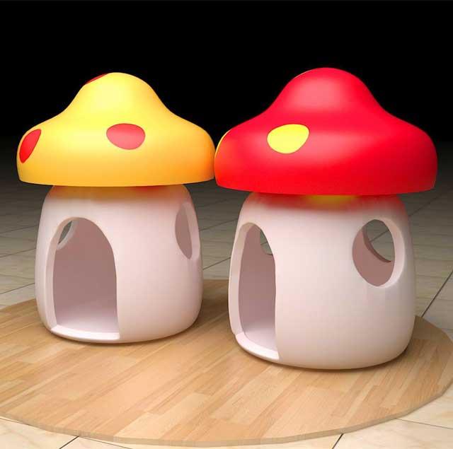 玻璃钢美陈雕塑蘑菇