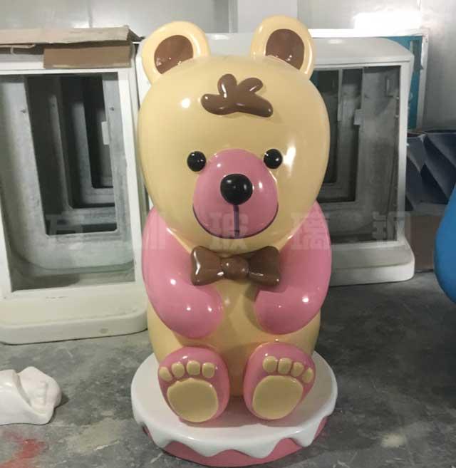 玻璃钢卡通小熊雕塑