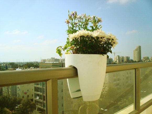 阳台玻璃钢护栏花盆