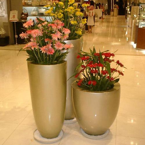 高端组合玻璃钢创意花瓶