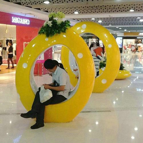 商场创意玻璃钢休闲椅