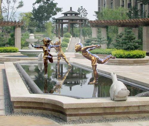 城市景观人物雕塑