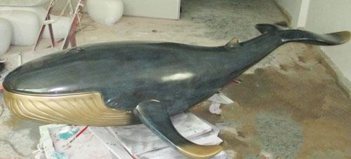 玻璃钢鲸鱼雕塑