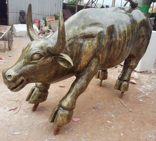 玻璃钢水牛雕塑