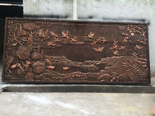仿铜玻璃钢名画浮雕