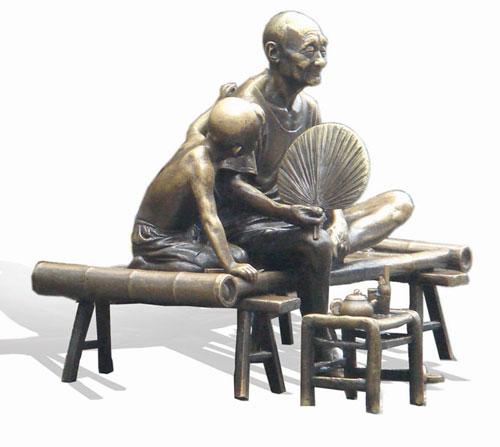 铸铜文化雕塑