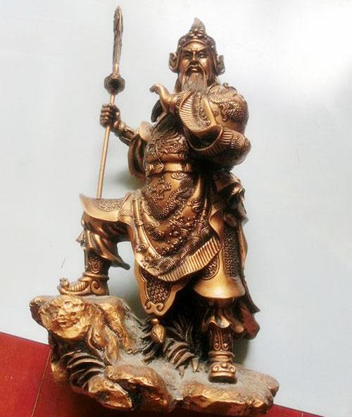 铸铜关羽雕塑