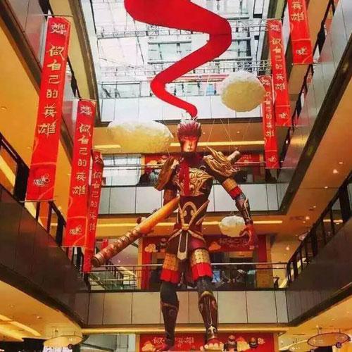 商场卡通齐天大圣玻璃钢雕塑